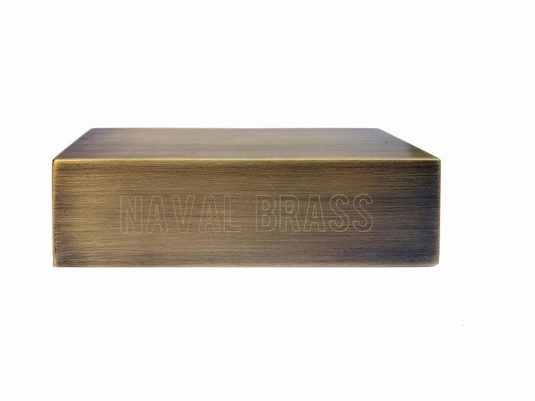 American Daikon POST  2.0 Sconce  Black Brass Steel Modern Minimal Light For Sale