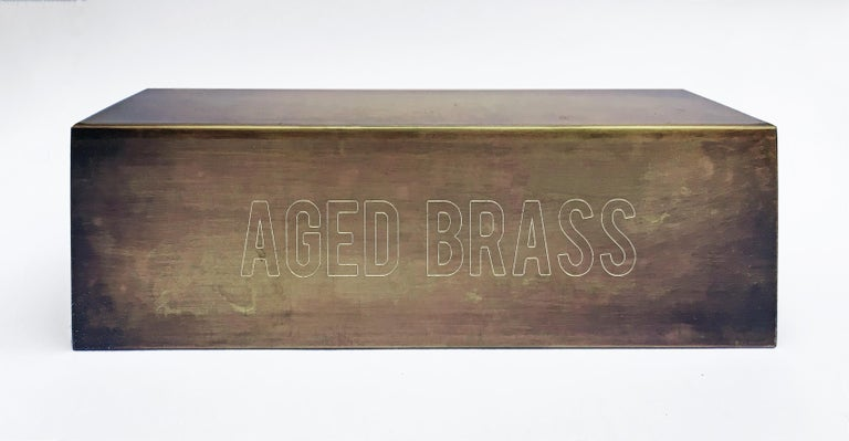 Patinated Daikon POST  2.0 Sconce  Black Brass Steel Modern Minimal Light For Sale