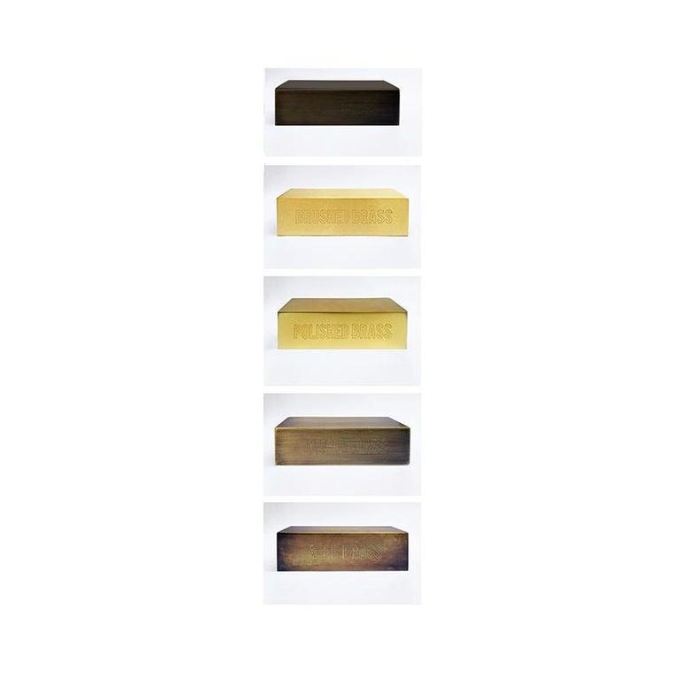 American Daikon POST  KoKo Scone  Large  Brass Modern Sconce Light For Sale