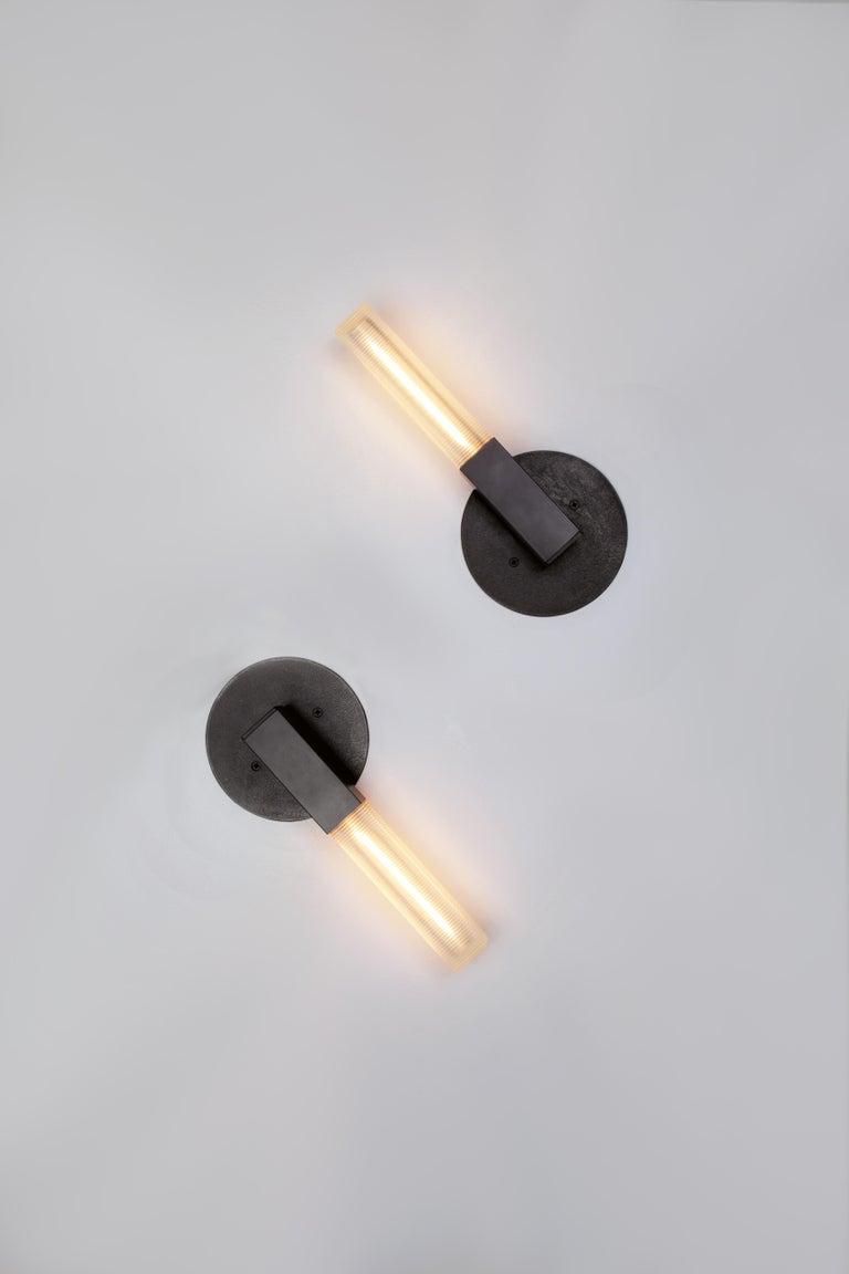 Mission Daikon Post Mini Sconce, Small Brass Modern Light For Sale