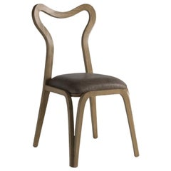 Daina Chair in Ziricote with Open Back by Fratelli Boffi