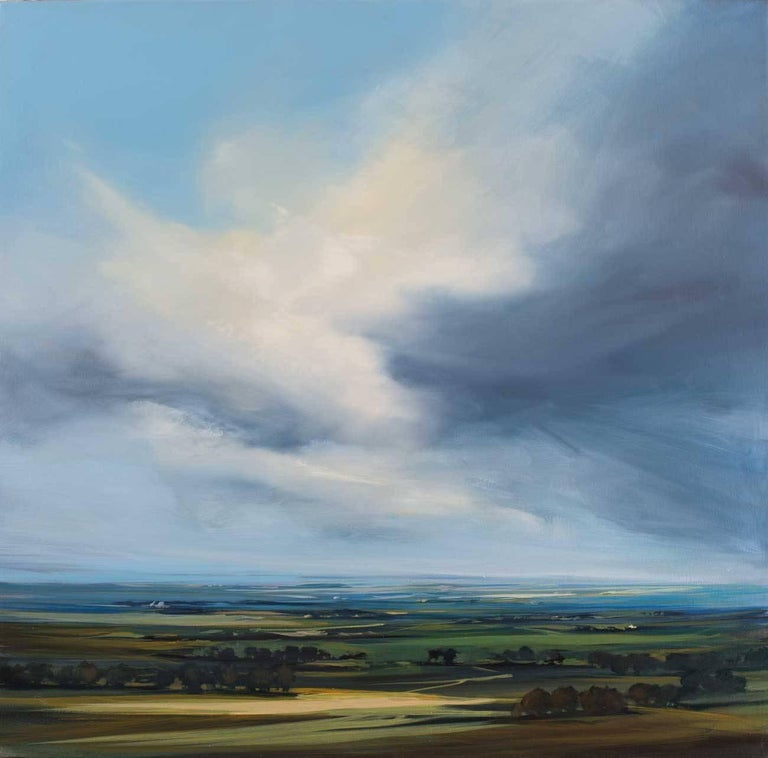 Clearing Sky abstract landscape painting