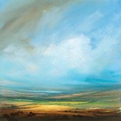 Distant Lake original painting