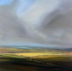 Fields in the Summer - original landscape artwork Contemporary 21st modern Art