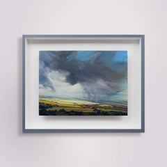 Light Trail - Original Realism Countryside Landscape Oil Painting Modern