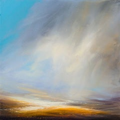 Moving Clouds original abstract landscape painting