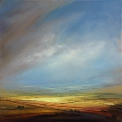 Playing with Light- Original, Expressionist Abstract, Landscape Painting,