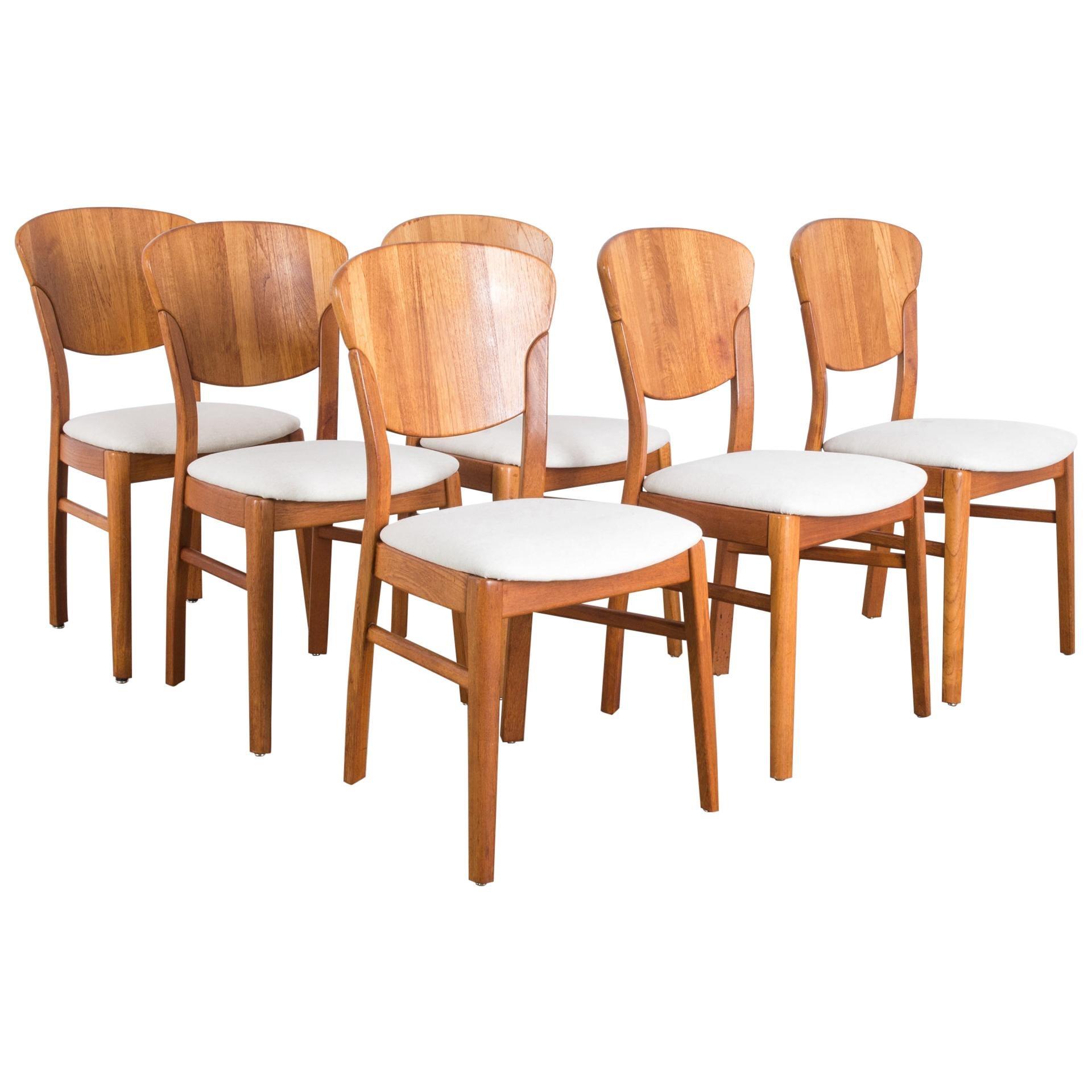 Danish Modern Dining Chairs by Glostrup Møbelfabrik, Set of Six