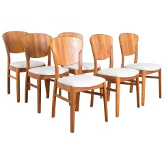 Danish Modern Dining Chairs by Glostrup Møbelfabrik, Set of Six