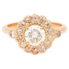 Daisy 1 Carat Diamond 18 Carat Rose Gold Ring