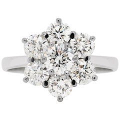 Daisy Diamond 18 Carat White Gold Cluster Ring