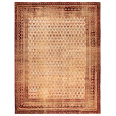 Daisy Garden Shabby Chic Antique Indian Rug. Size: 12 ft x 15 ft 7 in