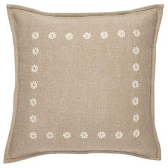 Daisy, Hand Embroidered Floral Cushion by Jupe by Jackie