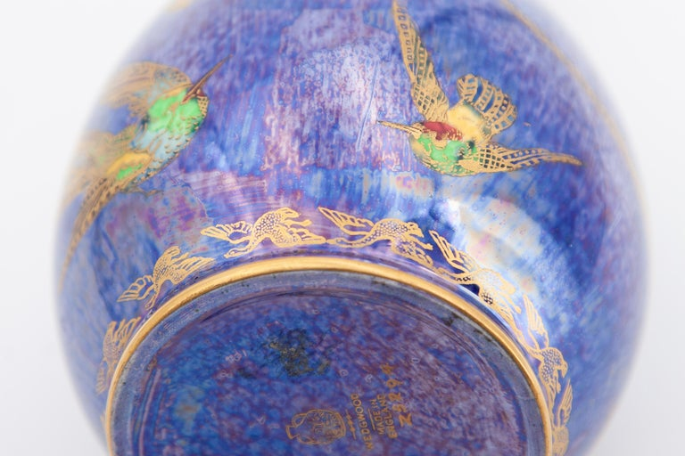 Daisy Makeig-Jones Wedgwood Hummingbird Lustre Vase For Sale 3