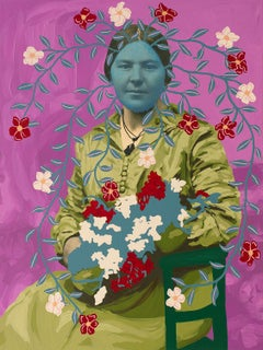Untitled (Blue Woman with Bouquet)