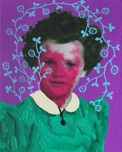 Untitled (Magenta Girl and Aqua Pattern)