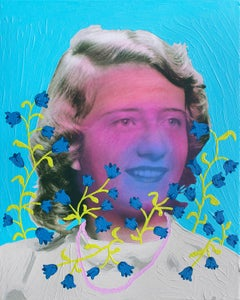 Untitled (Magenta Woman with Bluebells)