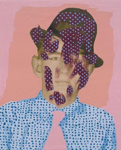 Untitled (Man with Dots on Tie, Hat, and Shirt)