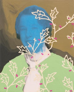 Untitled (Woman with Cream Vines and Pink Dots)