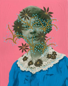 Untitled (Woman with Lace and Flowers)