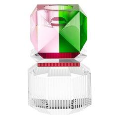 Dakota Crystal Christmas 2019 Candleholder Hand-Sculpted Contemporary Crystal