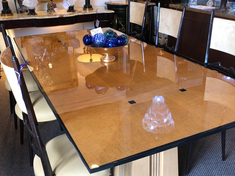 Art Deco Dakota Jackson Ariel Hollywood Regency Style Dining Room or Conference Table For Sale