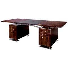Dakota Jackson French Polished Ebony Macassar Art Deco Style Executive Desk
