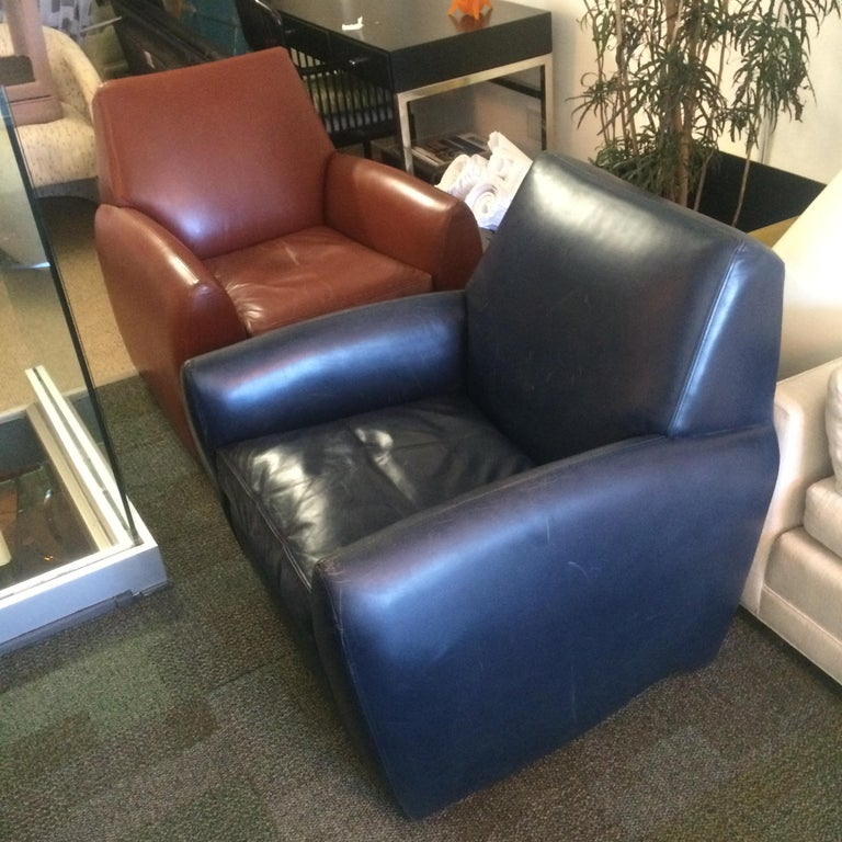 Dakota Jackson Leather Swivel Chair For Sale 5