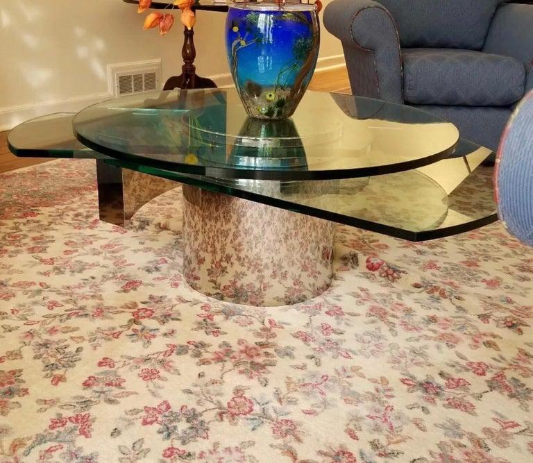 "Post-Modern Dakota Jackson ""Self-Winding Coffee Table"" in Chrome, 1978 For Sale"