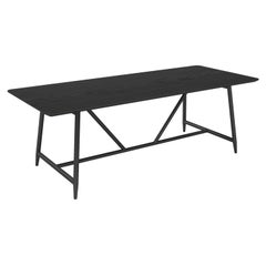Dal Dining Table, Contemporary Modern Minimalist Wooden Black Brushed Oak