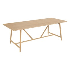 Dal Dining Table, Contemporary Modern Minimalist Wooden Oak