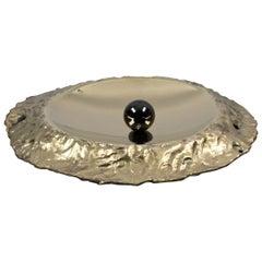 "Dal Furlo ""Sunflower Bowl"" Cylindrical Modern Brass Bowl"