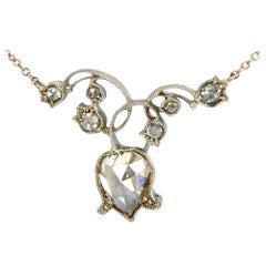 Dalben 1.5 Carat Pear Shape Diamond White Gold Necklace