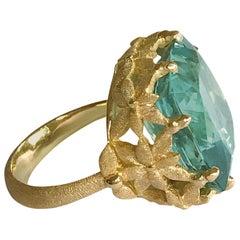 Dalben Aquamarine Gold Cocktail Ring