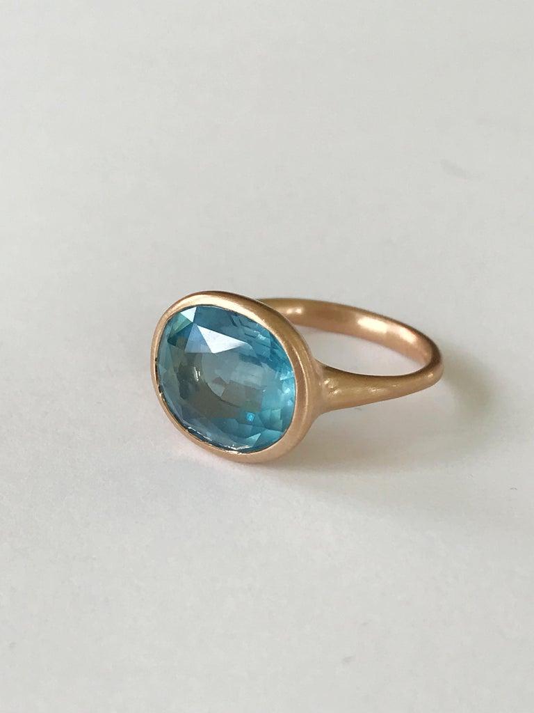 Women's Dalben Aquamarine Rose Gold Ring For Sale