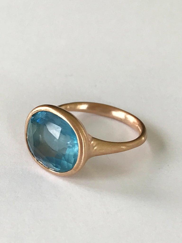 Dalben Aquamarine Rose Gold Ring For Sale 1