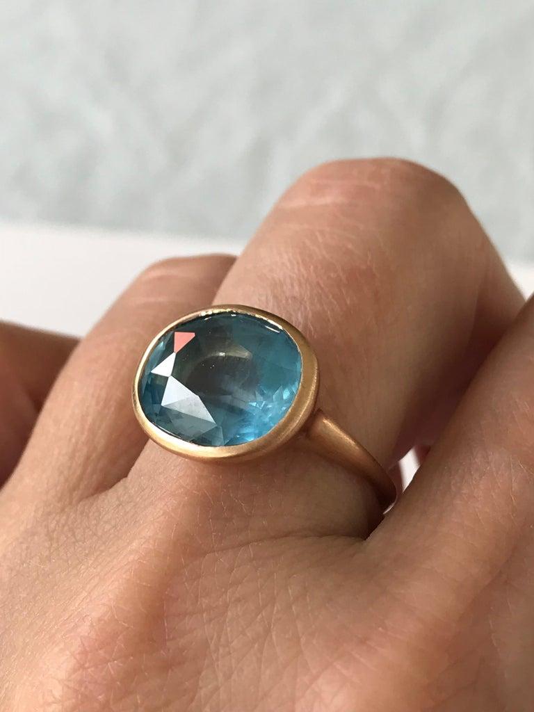 Dalben Aquamarine Rose Gold Ring For Sale 3