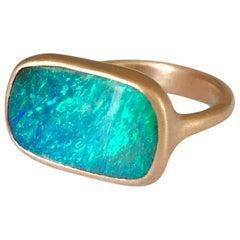 Dalben Australian Boulder Opal Rose Gold Ring