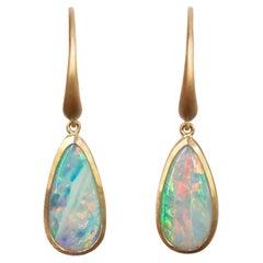 Dalben Australian Opal Rose Gold Earrings