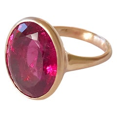 Dalben Big Rubellite Rose Gold Ring