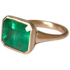 Dalben Design 5.25 Carat Emerald Rose Gold Ring