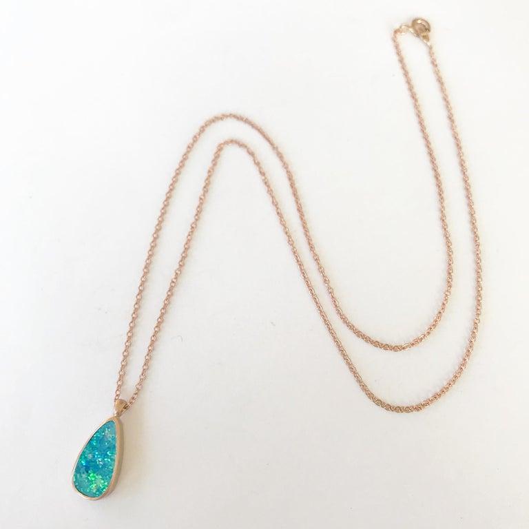 Women's Dalben Design Australian Boulder Opal and Rose Gold Necklace