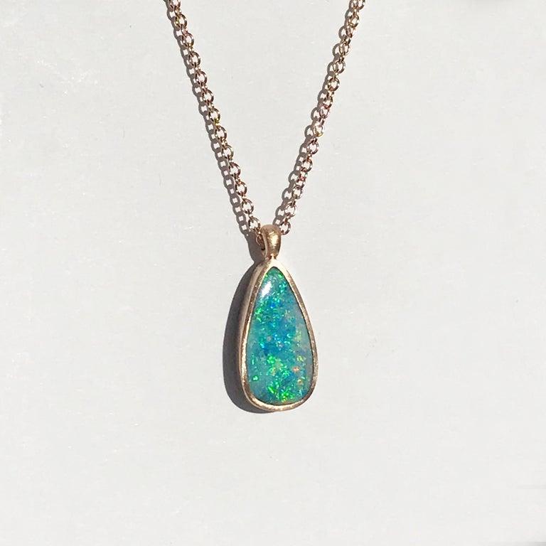 Dalben Design Australian Boulder Opal and Rose Gold Necklace 2