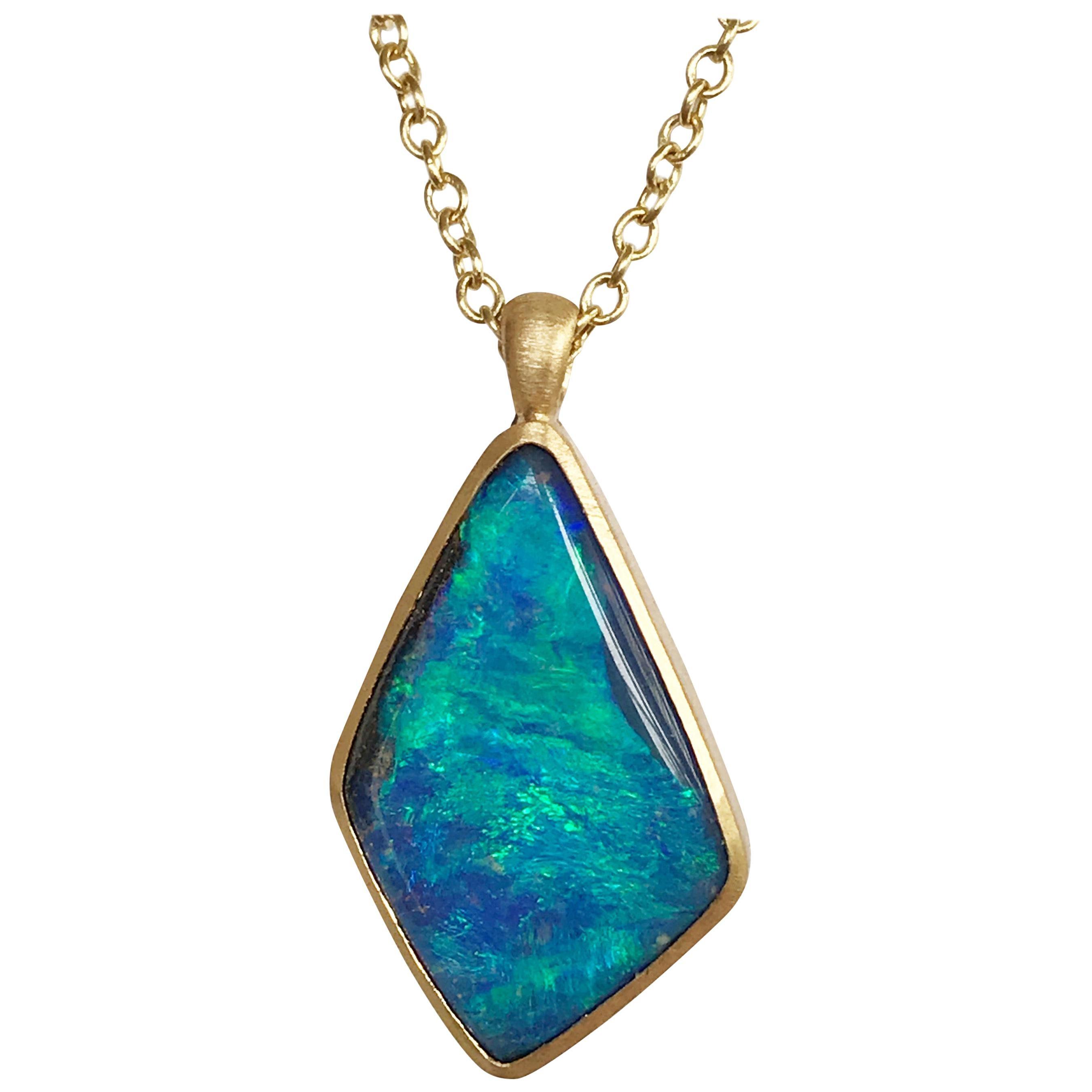 Dalben Design Australian Boulder Opal Yellow Gold Necklace