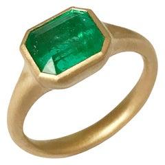 Dalben Design Emerald Cut Emerald Yellow Gold Ring