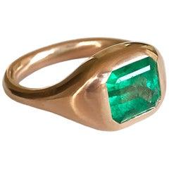 Dalben 2,4 Carat Colombian Emerald Rose Gold Ring