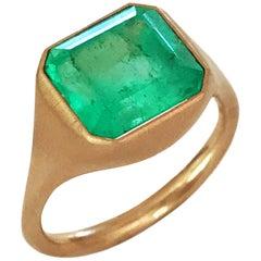 Dalben Design Emerald Rose Gold Ring
