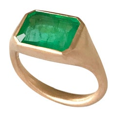 Dalben Design Emerald Rose Gold Ring