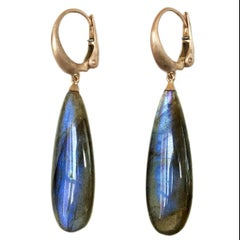 Dalben Design Labradorite Rose Gold Dangle Earring
