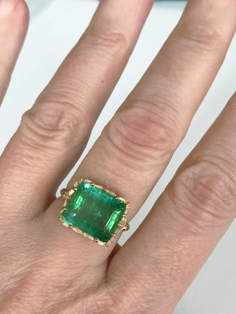 Dalben Green Tourmaline Rose Gold Cocktail Ring For Sale 4